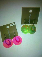 Be you shiny disc drop earrings (Code 2723)